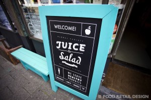 Juice&Salad krijtbord (Juice & Salad)